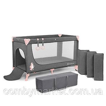 Кровать-манеж Kinderkraft Joy Pink (KKLJOYPNK00000)