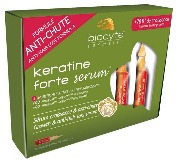 Сироватка проти випадіння волосся Биоцит Biocyte Anti-Hair Loss Keratine Forte Serum 5х9мл
