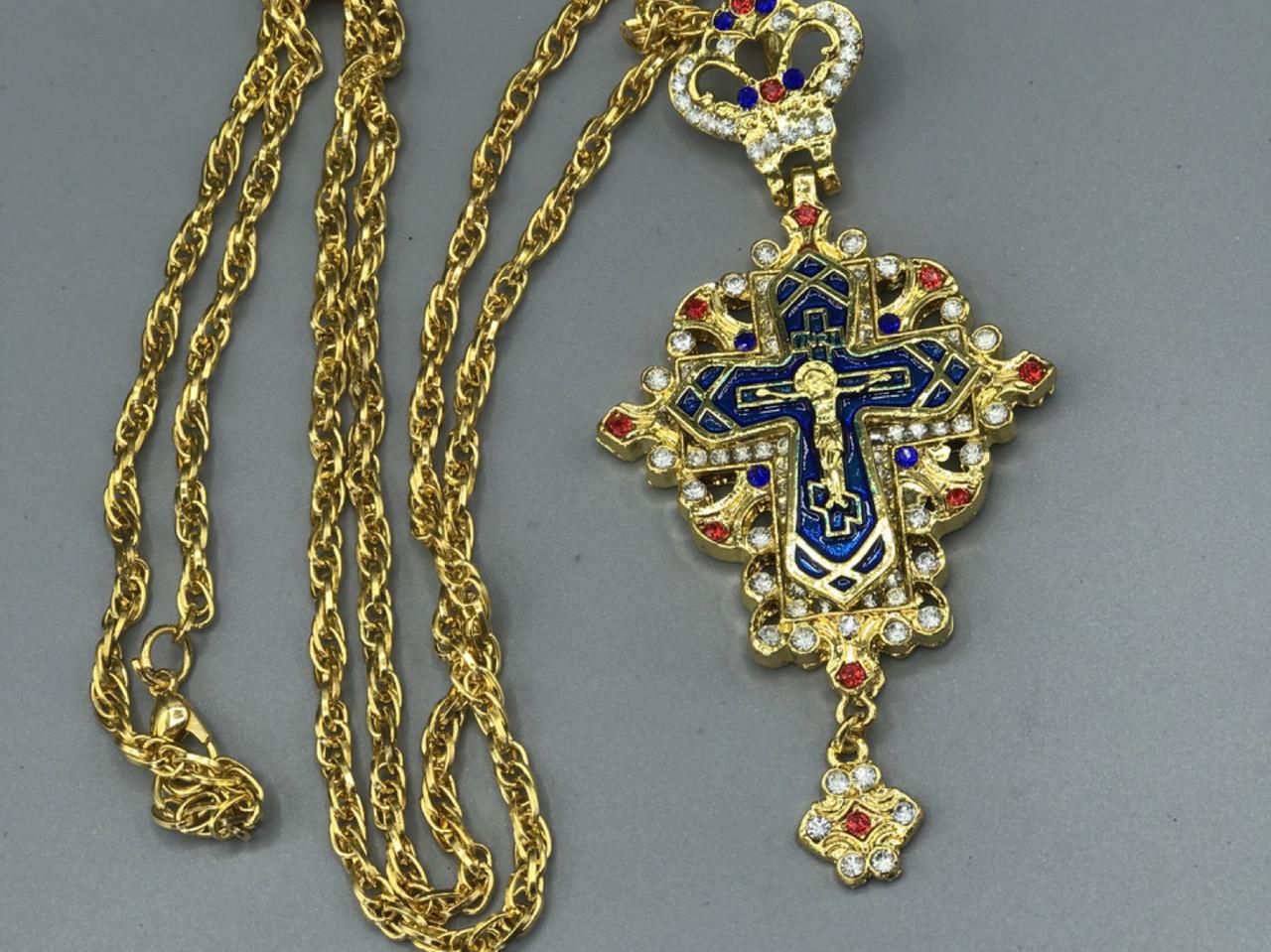 Крест Священнослужителя, синий