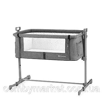 Приставная кроватка-люлька Kinderkraft Neste Gray Melange (KKLNESTGRYM000)