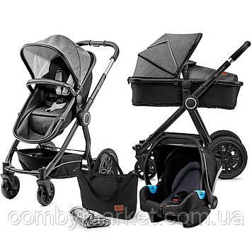 Універсальна коляска 3 в 1 Kinderkraft Veo Black/Gray (KKWVEOBLGR3000)