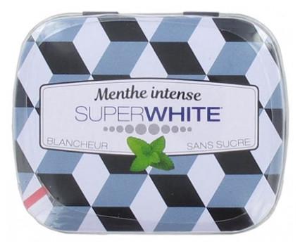 Освіжаючі пастилки без цукру Superwhite Menthe Intense 50 шт