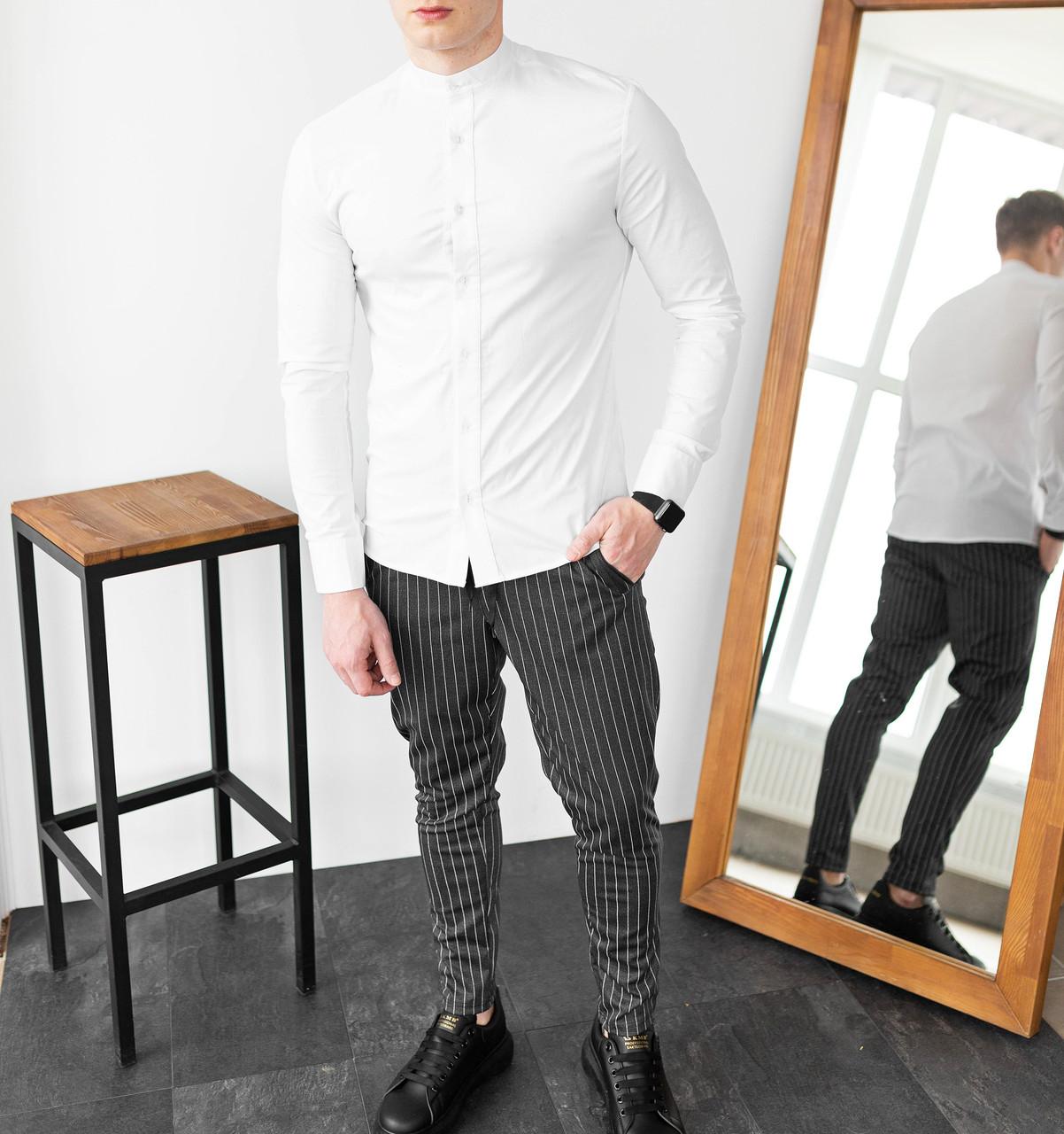 Чоловічий класичний комплект сорочка + штани Closer