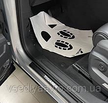 Накладки на пороги Volkswagen TOUAREG III с 2017 г. (Carbon)