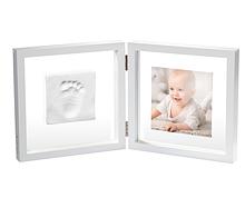 Набір для створення відбитка ручки і ніжки малюка Baby Art Подвійна рамка Прозора з відбитком