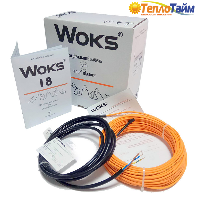 Нагревательный кабель WOKS 18 580 Вт, 32 м