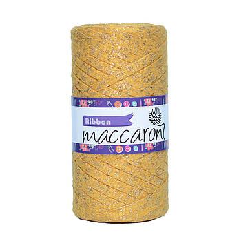 Ленточный шнур Maccaroni Ribbon Glitter 6 mm Горчичный