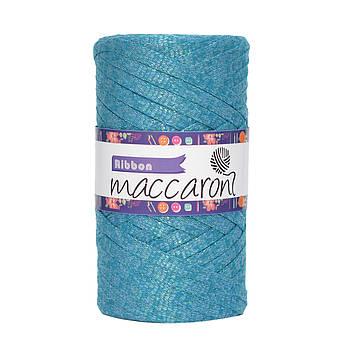 Ленточный шнур Maccaroni Ribbon Glitter 6 mm Бирюза