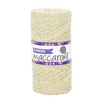 Ленточный шнур Maccaroni Ribbon Glitter 6 mm Молочный