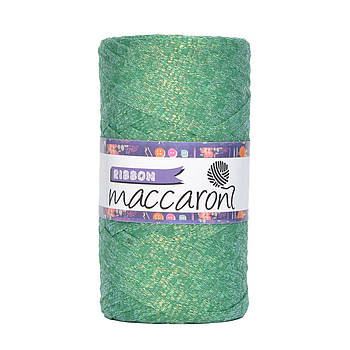 Ленточный шнур Maccaroni Ribbon Glitter 6 mm Трава