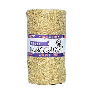 Ленточный шнур Maccaroni Ribbon Glitter 6 mm Желтый