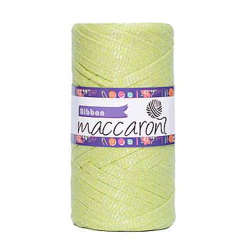 Ленточный шнур Maccaroni Ribbon Glitter 6 mm Лайм