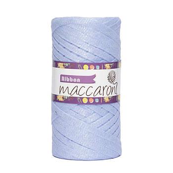 Ленточный шнур Maccaroni Ribbon Glitter 6 mm Голубая сирень