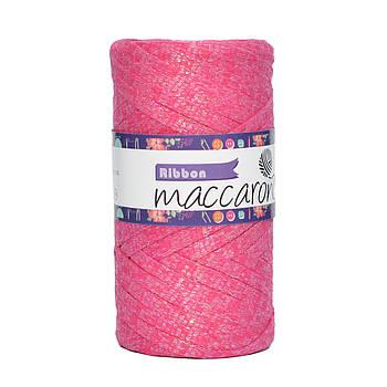 Ленточный шнур Maccaroni Ribbon Glitter 6 mm Малиновый