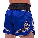 Шорти для тайського боксу та кікбоксингу 2346, розмір M, синій, фото 3