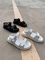 Сандалии женские Dior Sandals (Premium) белые. Женские спортивные босоножки Диор белого цвета., фото 1