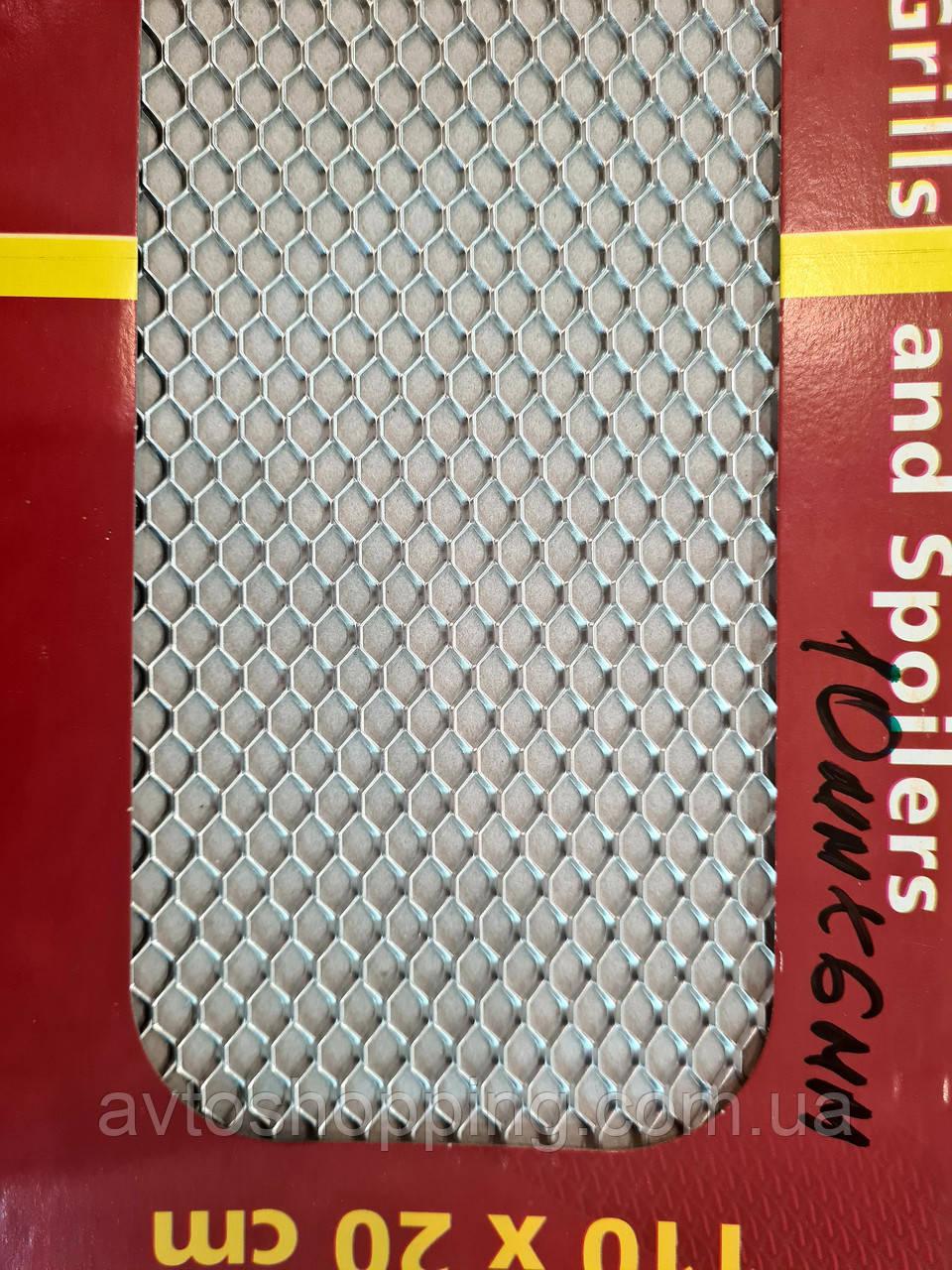 Сітка декоративна Sahler 100*20см Хром №4, 10мм/6мм, СІТКА Радіатора, сітка декоративна в Бампер