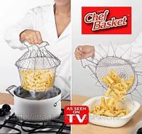 Универсальный решетчатый дуршлаг Chef Basket, пароварка Magic Kitchen Deluxe Меджик Китчен Делюкс, фото 1