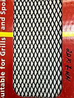 Сітка декоративна Sahler 100*20см Чорна №5, 20мм/7мм, СІТКА Радіатора, сітка декоративна в Бампер
