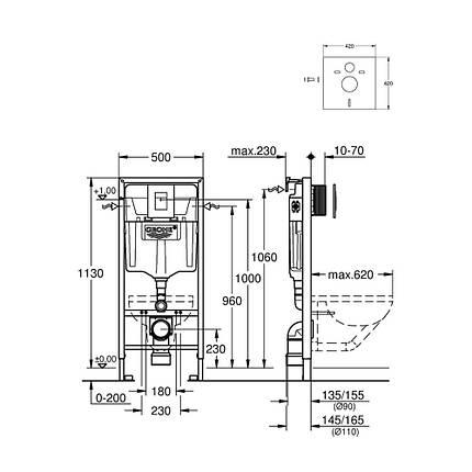 Grohe інсталяція Rapid SL 38772001 + звукоізоляція 37131000, фото 2