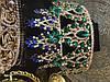 Диадема с синими камнями, тиара высокая, корона на голову , корона на конкурс красоты, фото 9