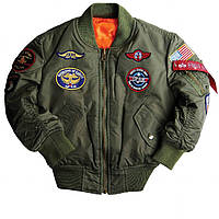 BOYS MA-1 JACKET WITH PATCHES Альфа Индастриз Куртка-ветровка детска