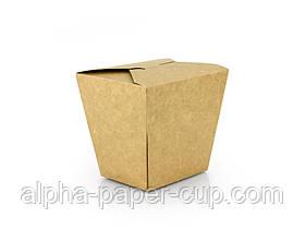 Паста бокс 500 мл крафт-белый собранный, 480 шт/ящ