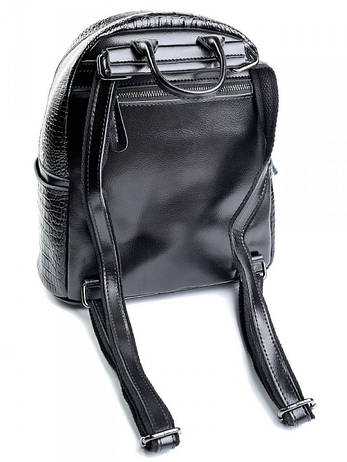 Женский кожаный рюкзак Case кроко 8980 черный, фото 2
