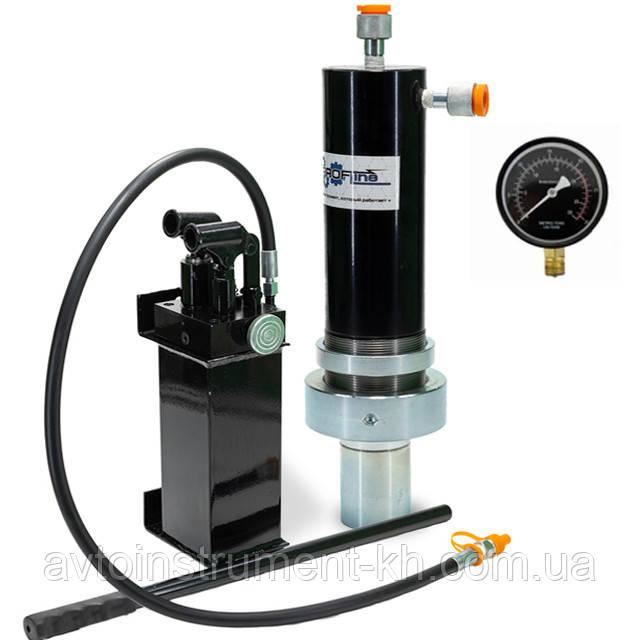 Комплект:гидравлический цилиндр  для пресса с МАНОМЕТРОМ 30 т Profline +Насос гидравлический для пресса 30 т