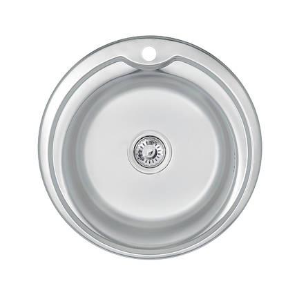 Кухонная мойка Lidz 510-D 0,6 мм Satin (LIDZ510D06SAT180), фото 2