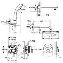 Душова система Grohe Grohtherm SmartControl 26416SC2, фото 2