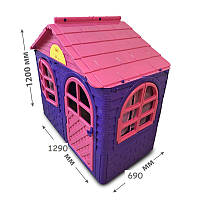 Детский игровой пластиковый домик со шторками ТМ Doloni (маленький) 02550/10, фото 1