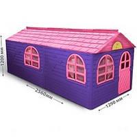 Детский игровой пластиковый домик со шторками ТМ Doloni (большой) 02550/20, фото 1