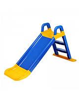 Детская горка для катания дома и дачи 140 см синяя, 0140/03 (Долони)