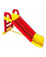 Детская горка для катания дома и дачи 140 см красно-желтая, 0140/02 (Долони), фото 1