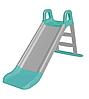 Дитяча гірка для катання дому і дачі 140 см сіро-біла, 0140/11 (Долони)