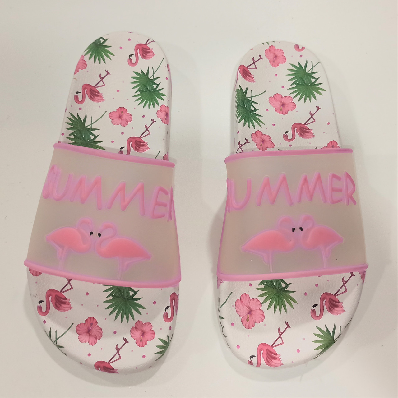 Шлепанцы с фламинго розовые, Calypso размеры: 37-41