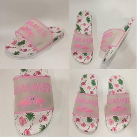 Шльопанці з фламинго рожеві, Calypso фото
