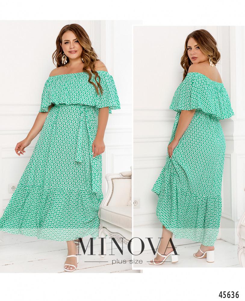 Платье №301-Мята Мята/50-52