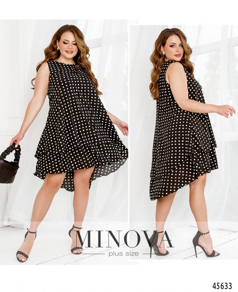 Платье №1043-черный черный/50-52