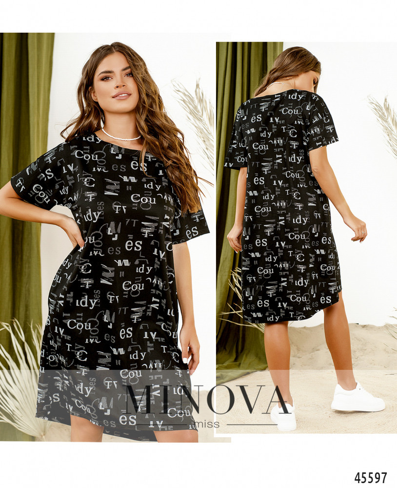 Платье №1085-чёрный чёрный/Универсальный(42-44-46)