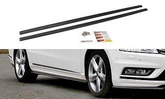 Пороги VW Passat B7 R-line элерон тюнинг обвес