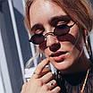 Сонцезахисні окуляри жіночі класичні вузькі овальні ретро, фото 8
