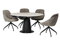 Керамический стол TML-831 грей стоун+черный