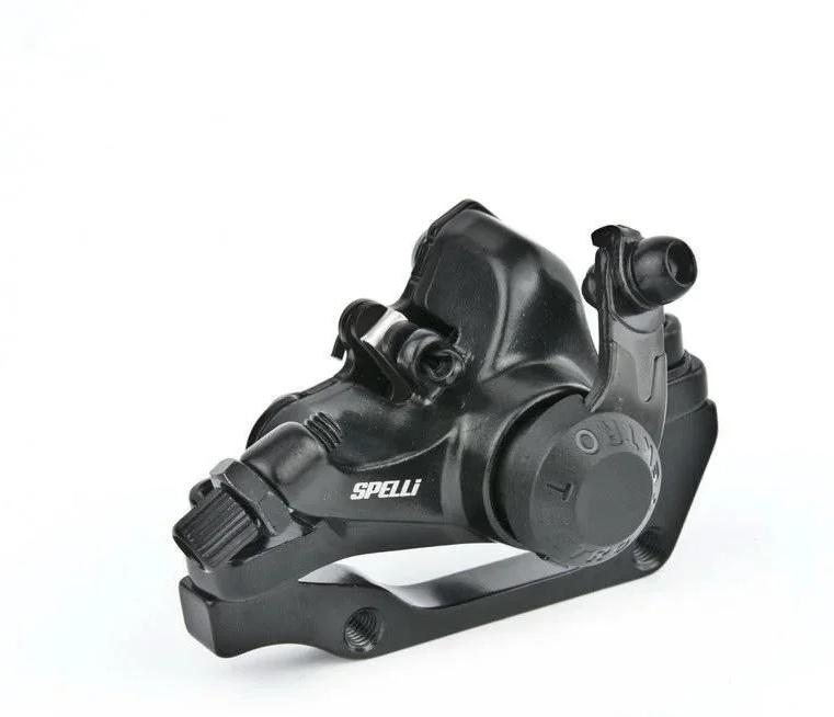 Машинка гальмівна велосипедна диск Spelli (Tektro) SDB-280 (F160\R140)