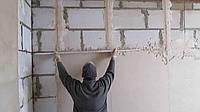 Штукатурка стен с установкой маяков (до 25 мм)