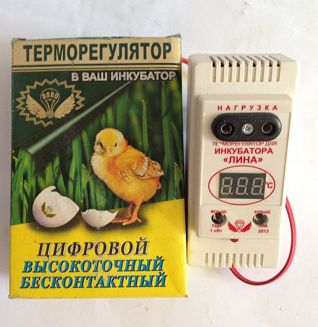 Цифровой терморегулятор + влагомер для инкубатора Лина ТЦИ-1000