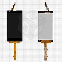 Дисплейный модуль (дисплей + сенсор) для Fly IQ4511 Tornado One, черный, #IPS5K0775FPC-A1-E, оригинал