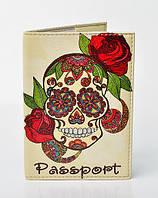 """Обложка на паспорт """"Гламурный череп"""""""