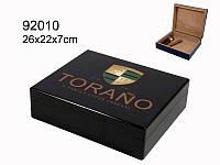 Хьюмидор 92010 для 25 сигар, Carlos Torano, черный, 26х22х7см